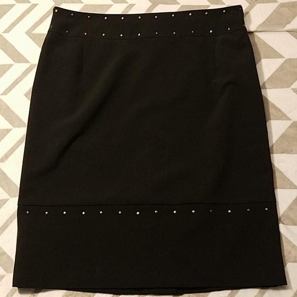 Worthington Dresses & Skirts - New Worthington Black Studded Skirt Sz 14